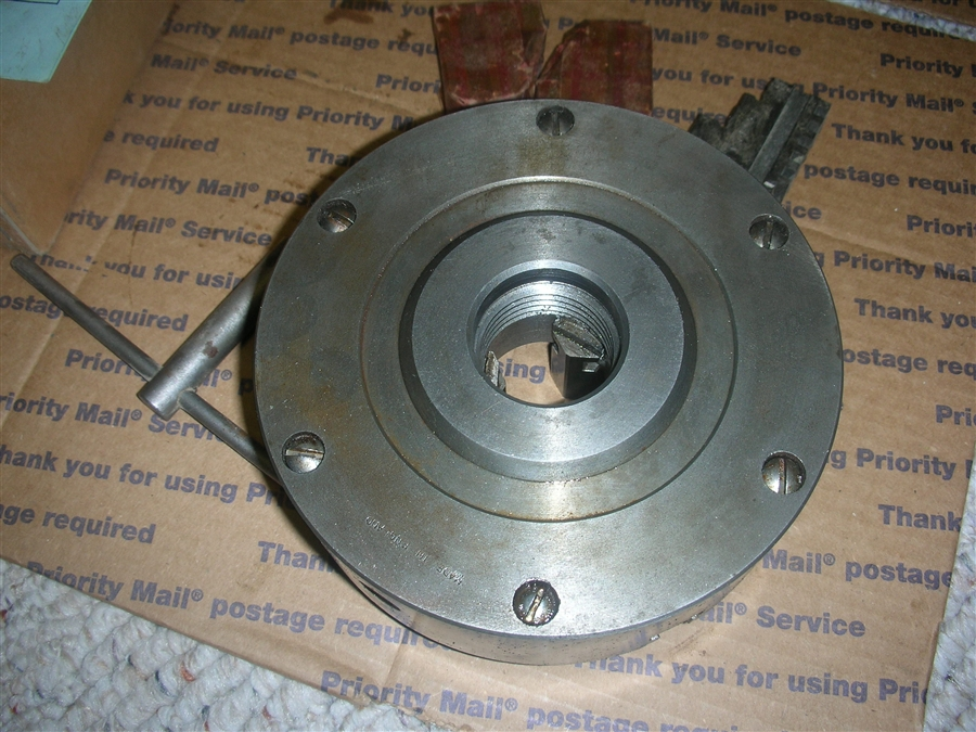 ATLAS CRAFTSMAN 10-12 LATHE 6 INCH 3 JAW CHUCK BARELY USED GREAT SHAPE
