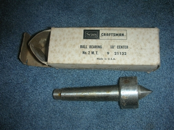 NEW OLD STOCK ATLAS CRAFTSMAN 9-12 LATHE BALL BEARING LIVE CENTER IN BOX #2 SHANK