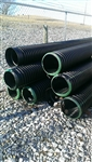 "12"" x 20' Plastic Double Wall Culvert Pipe"