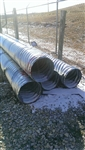 "15"" x 10' Galvanized Culvert Pipe 16 Gauge"
