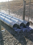 "15"" x 20' Galvanized Culvert Pipe 16 Gauge"
