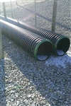 "18"" x 20' Plastic Double Wall Culvert Pipe"