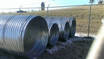 "24"" x 20' Galvanized Culvert Pipe 16 Gauge"
