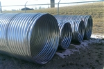 "36"" x 20' Galvanized Culvert Pipe 16 Gauge"
