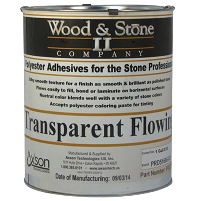 Flowing Transparent Polyester Adhesive