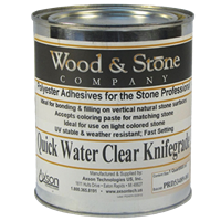 Wood & Stone Quick Water Clear Knife Grade 1 Quart