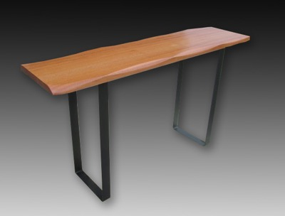 Japanese Style Console Table, African Mahogany