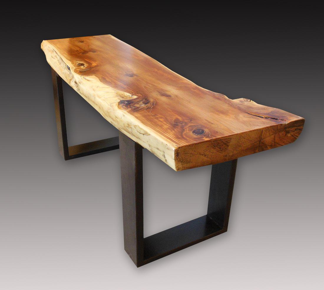 Japanese Elm Wood Bench