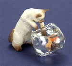 Siamese Kitten and fish bowl