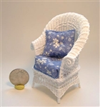 Allison Chair in White Wicker