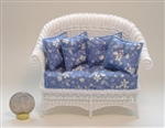Allison Sofa in White Wicker