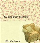 408-409- Green Floral & Solid Green Swatches-Lees Line