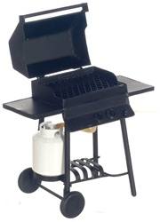 Barbeque grill with propane tank