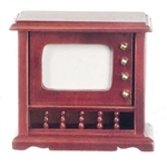 TV Floor Model Red Mahogany