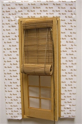 Natural Bamboo Roll-up Shade for Miniature Door