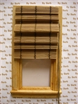 Natural Bamboo Roman Shade for Miniature Window