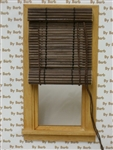 Brown Bamboo Roll Up Shade for Miniature Window