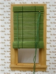 Green Bamboo Roll Up Shade for Miniature Window
