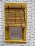 Natural Bamboo Roll Up Shade for Miniature Window
