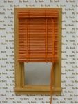 Orange Bamboo Roll Up Shade for Miniature Window