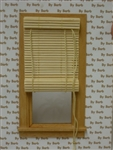 Tan Bamboo Roll Up Shade for Miniature Window