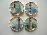 Lighthouse Print Platters 1 inch Scale Miniatures