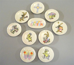 Easter Plate Set 1 inch Miniature Scale
