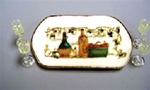 Wine Set with tray 1 inch Mininature Scale