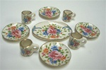 12 Piece Rose Place Setting 1 inch Miniature Scale