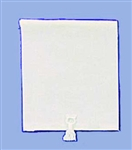 White Cloth Window Shade for Miniature Window