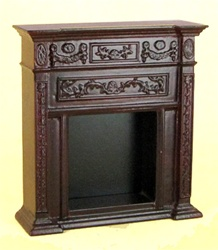 Bespaq Ornate Mahogany Fireplace