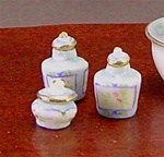Miniature Egg Shell Porcelain Dresser Set