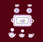 Miniature Egg Shell Porcelain Tea Set