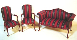 King George III Settee & Chair Set