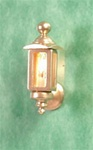 Half inch scale Electric Coach Lamp-brass Clare Bell