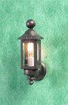 Half inch scale Electric Coach Lamp-Black Clare Bell Brass