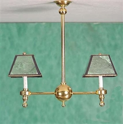 Billiard Chandelier  Miniature Clare Bell Brass