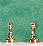 Candlesticks half inch miniature scale Clare Bell Gold