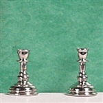 Candlesticks half inch miniature scale Clare Bell Silver
