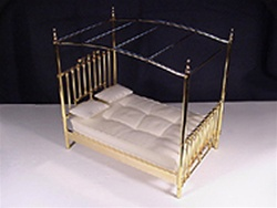 Canopy Double Brass Bed