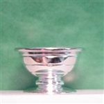 Silver Finish Fruit Bowl 1 inch scale Clare Bell Brass