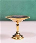Gold Finish Compote 1 inch scale Clare Bell Brass