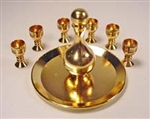 Gold Finish Wine Set 1 inch scale Clare Bell Brass