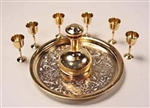 Elegant  Wine Set 1 inch scale Clare Bell Brass
