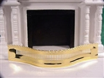 Fire Place Fender Clare Bell Brass miniatures