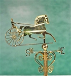 Trotter  Weathervane miniatures by Clare Bell Brass