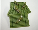Green Bamboo Place Mat -Napkins set in Miniature