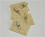 Tan Bamboo Place Mat -Napkins set in Miniature