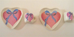 Heart  Shaped Ceramic Dinner Set 1 inch Scale