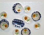 Country Style 14 piece Ceramic Dinner Set 1inch scale